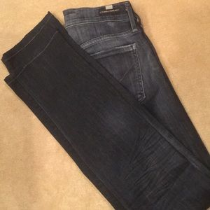 Citizens of Humanity black straight leg jeans